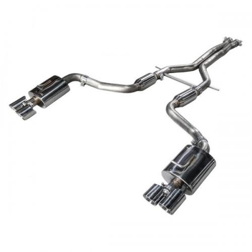 Panamera Turbo Performance Exhaust System Touring Edition Polished Silver Tips AWE Tuning