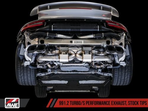 Porsche 991.2 Turbo Performance Avgassystem AWE Tuning