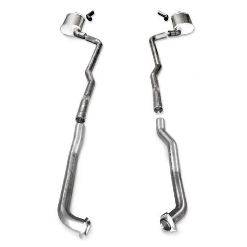 "1973-82 Corvette Exhaust BB Standard Trans 2-1/2"" Factory Connect Stainless Works"