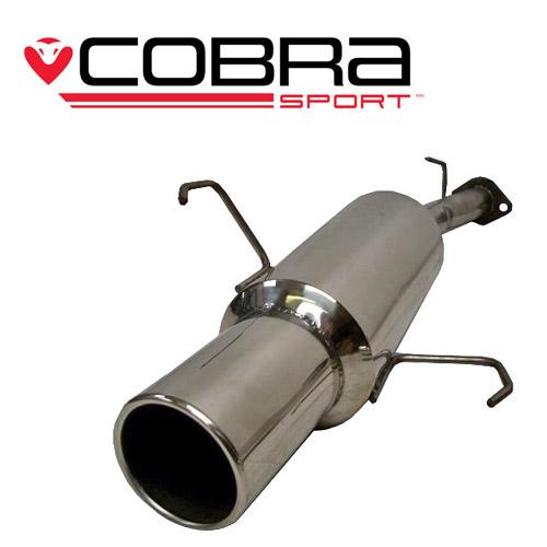 Corsa C (00-06) 1.2L & 1.4L Petrol 00-06 Bakre Ljuddämpare Cobra Sport