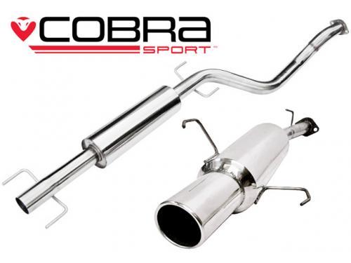 Corsa C (00-06) 1.2L & 1.4L Petrol 00-06 Catback (Ljuddämpat) Cobra Sport