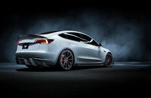 Vorsteiner Tesla Model 3 Volta Rear Diffuser Carbon (Track Edition) Fiber PP 2x2 Glossy