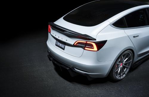 Vorsteiner Tesla Model 3 Volta Decklid Spoiler Carbon Fiber PP 2x2 Glossy