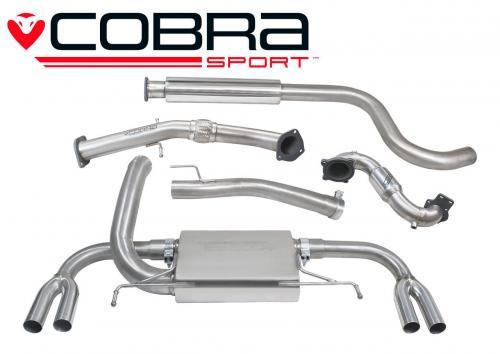 Astra J VXR 12- Turboback-system (Med Sportkatalysator & Ljuddämpare) Cobra Sport