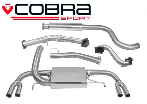 Astra J VXR 12- Turboback-system (Med De-Cat & Ljuddämpare) Cobra Sport