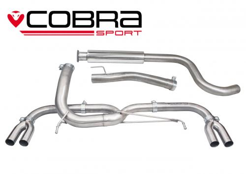 Astra J VXR 12- Catback (Venom Range - Låg ljudvolym) Cobra Sport