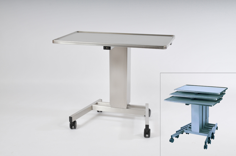 Instrument Table, 800 x 520 mm, Height: 900 - 1400 mm