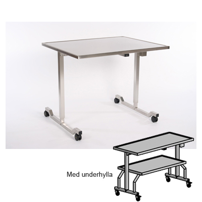 Instrument Table, 1070 x 570 mm, Height: 900 - 1400 mm