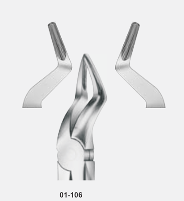 Tooth Forceps, for upper roots, short and narrow beaks, fig: 51