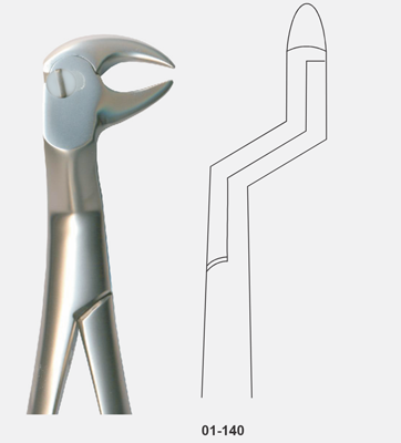 Tooth Forceps, Routourer, for lower molars gripping in depth lateral Right, Cow