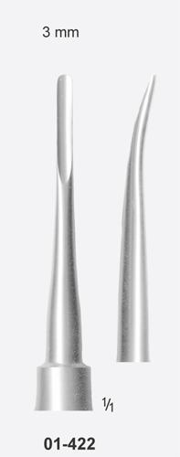 Tooth Elevator, Bein Curved, 3mm