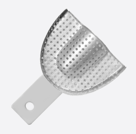 Impression Tray, Partial denture perforated without Rim Upper XS