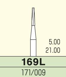 Carbide burs 3 st frp Nr 169L