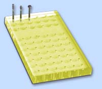 Drill Stand 72 holes 70x140mm Yellow FG-HST VST 54 18 holes
