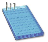 Drill Stand 84 holes 70x160mm Blue FG-HST VST 66 18 holes
