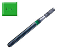 Diamond Drill 835 FG012 Green Flat end Cylinder 4st fp