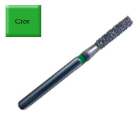 Diamond Drill 836 FG014 Green Flat end Cylinder 4st fp