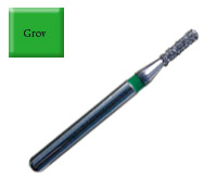 Diamond Drill 837 FG012 Green Flat end Cylinder 4st fp