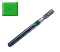 Diamond Drill 837 FG016 Green Flat end Cylinder 4st fp