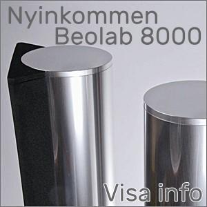 Nyinkommen ett par Beolab 8000 MK2 Du hittar hos oss Designed-AV Shop alltid ett stort utbud av begagnade Beolab 8000 högtalare, ett års garanti ingår!