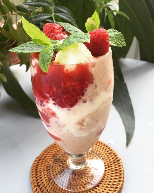 Hallonshake, hallonmilkshake, raspberry milkshake