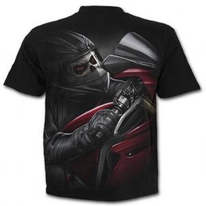 T-shirt, Spiral, Demon Biker