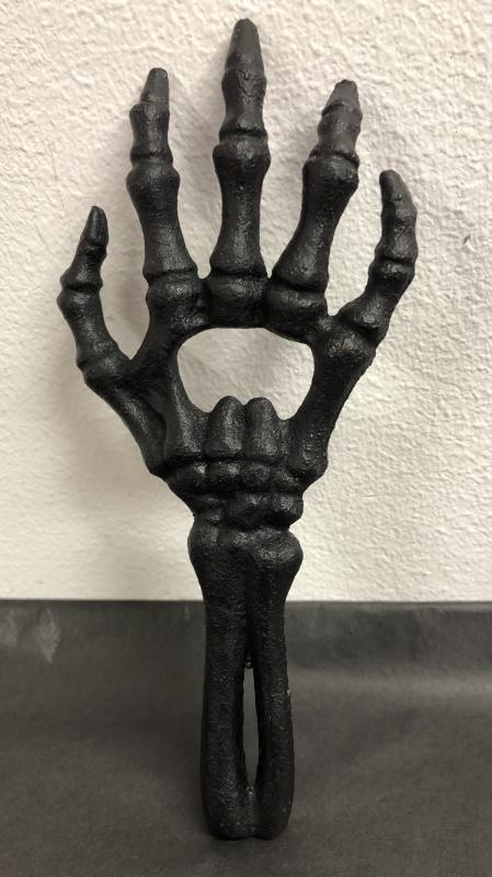 Kapsylöppnare skeletthand Svart