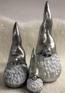 Dekortomten silver, 3 storlekar