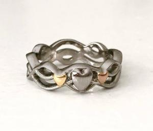 Braided Hearts Ring