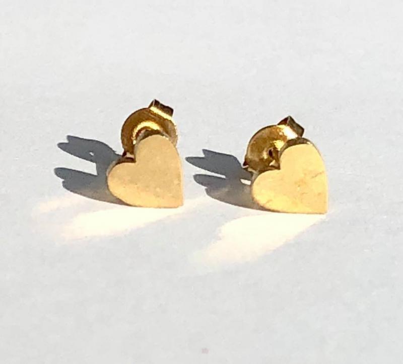 Örhängen, Gold Heart