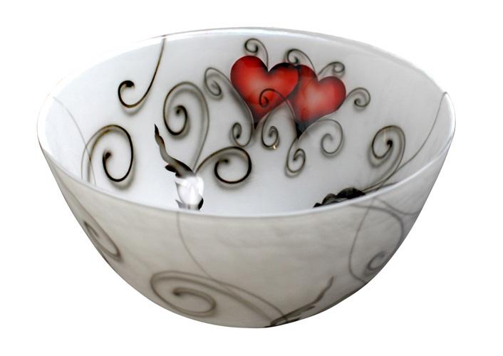 Glasskål Hjärtan, Nybro