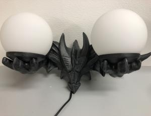 Vägglampa, Drake 2 kupor