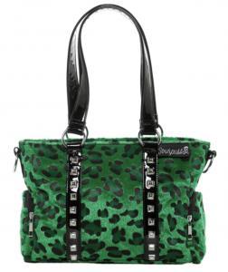 Leopardmönstrad Handväska, Grön