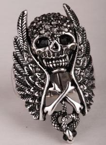 Döskallering vingar, silver/grå
