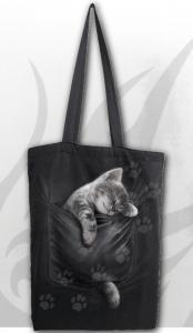 Tygväska/ Shoppingbag, Pocket Kitten