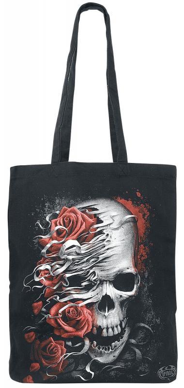 Tygpåse/Shoppingbag, Skulls n Roses
