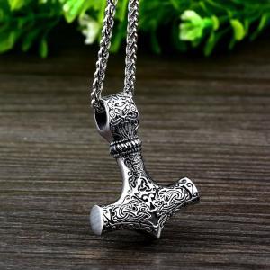Halsband Thors hammare, rostfritt stål