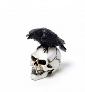 Dekoration, mini, Raven Skull
