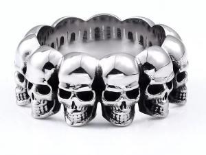 Ring Skulls, i rostfritt stål
