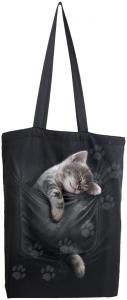 Tygväska/Shoppingbag, Pocket Kitten