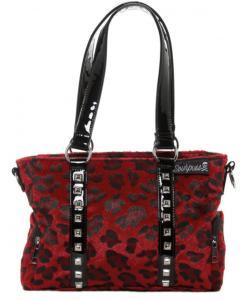 Leopardmönstrad Handväska, Röd
