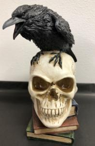 Döskalle Dekoration Poeś Raven