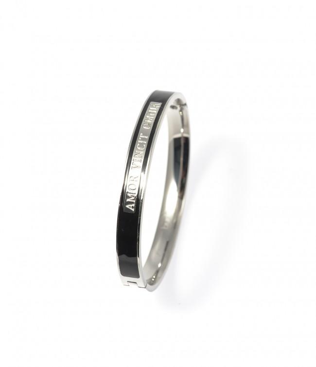 Armband,Avo Bracelet Steel/Black