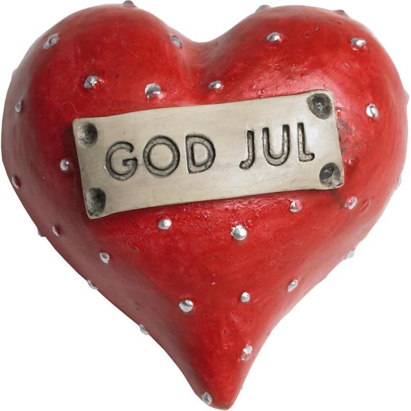 Dekorationshjärta, God Jul