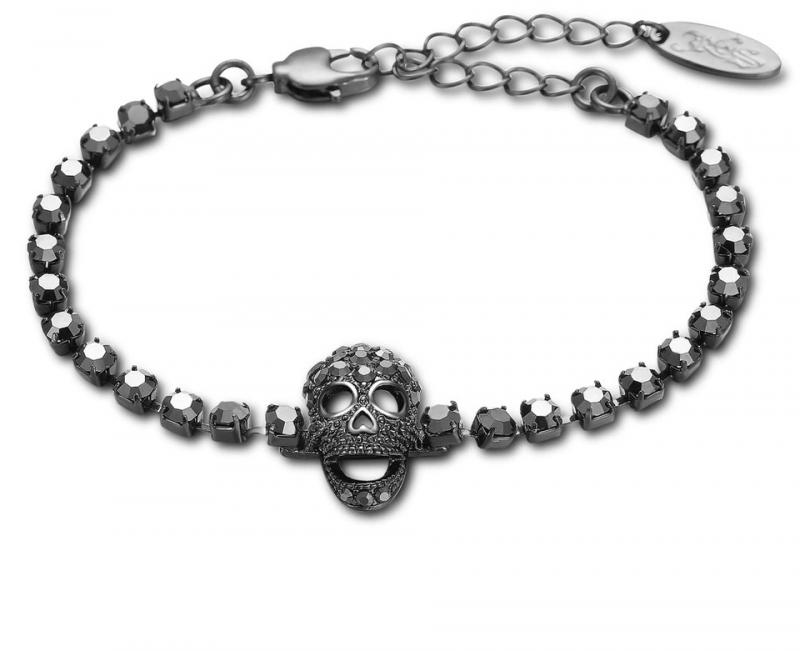 Döskalle Armband Crystal
