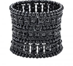 Rockigt svart armband