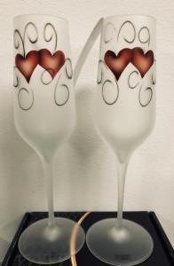 Champagne Hjärtan Frostat