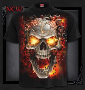 T-shirt, Spiral, Skull Blast