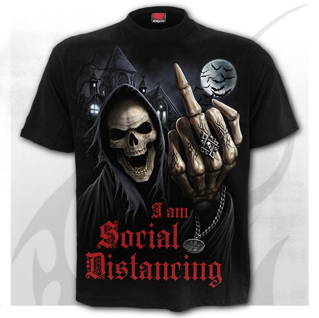 T-shirt, S-4XL, Social Distance-Lockdown 2020