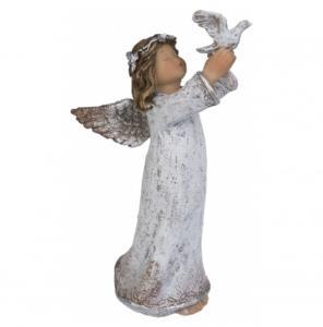 Dekoration, Ängel med fågel, Hög